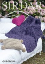 Sirdar Gorgeous - 7962  Home Accessories Knitting Pattern